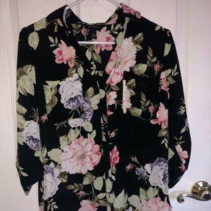 Floral button up blouse
